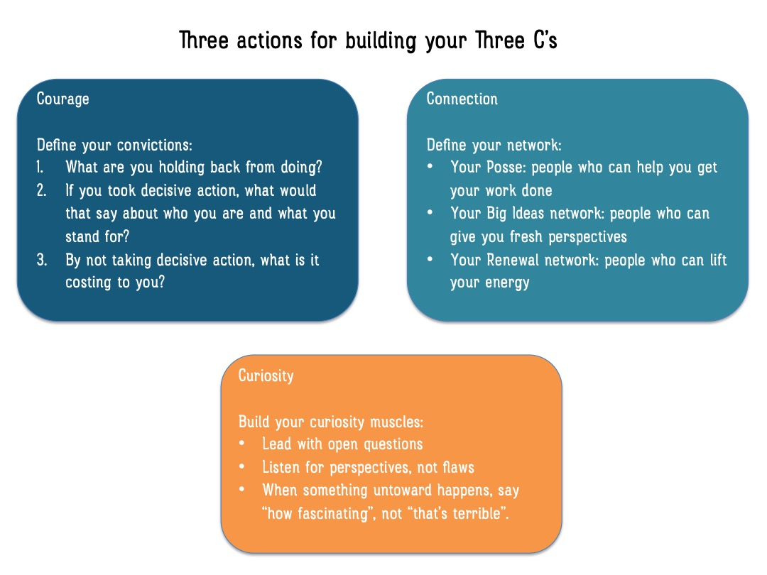Three Actions for Building Your Three C's